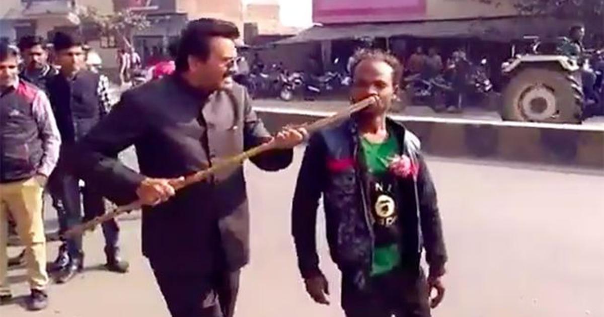 Sambhal: BJP leader caught on camera attacking disabled man who showed support for Akhilesh Yadav