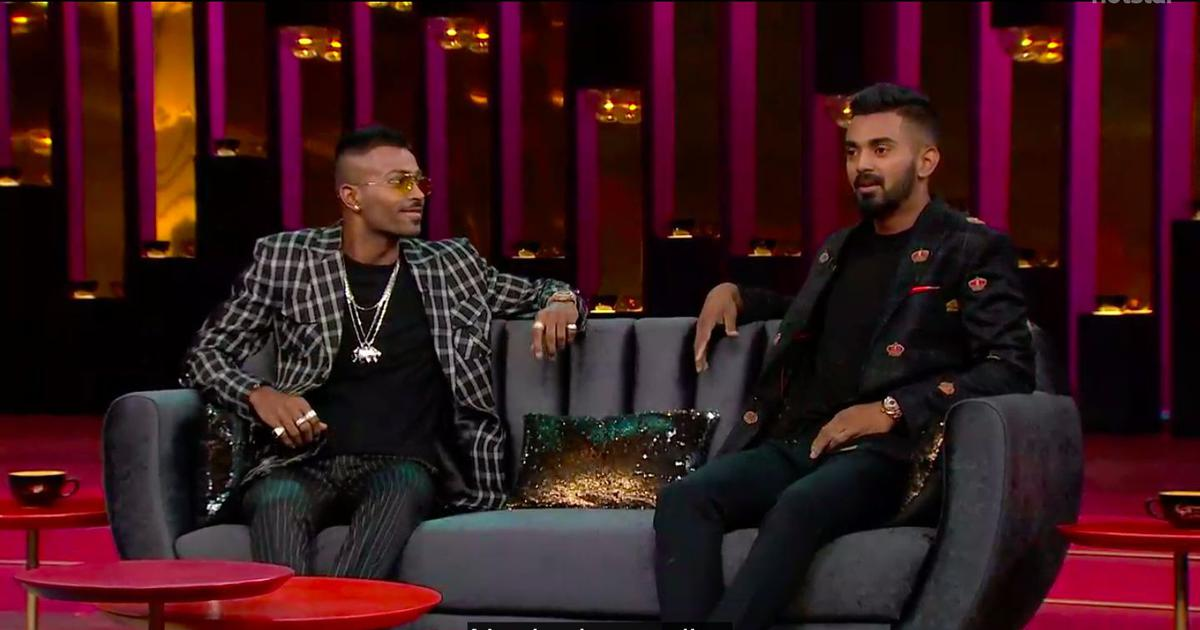 Hardik Pandya, KL Rahul fined Rs 20 lakh each by BCCI ombudsman for 'Koffee with Karan' comments