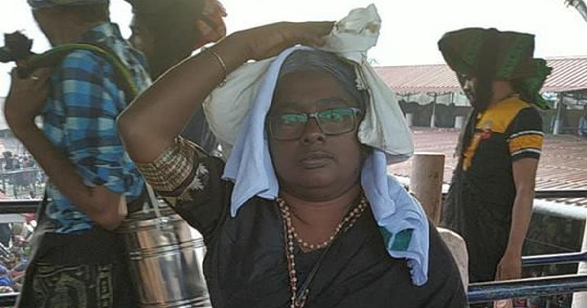 अब एक दलित महिला ने सबरीमला में प्रवेश का दावा किया, बालों को सफेद डाई से रंगवाकर दर्शन किए