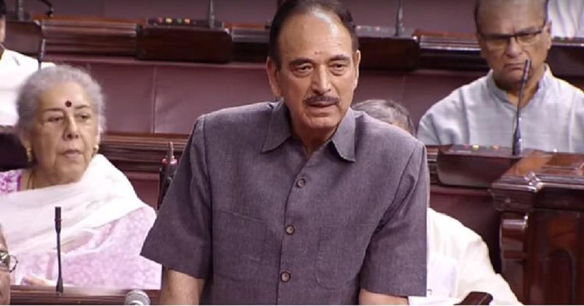 Congress leader Ghulam Nabi Azad tests positive for coronavirus, quarantines at home