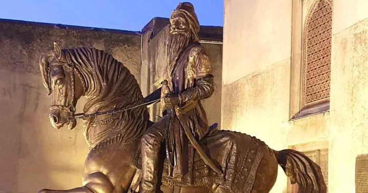 पाकिस्तान : लाहौर में महाराजा रणजीत सिंह की प्रतिमा के साथ तोड़फोड़