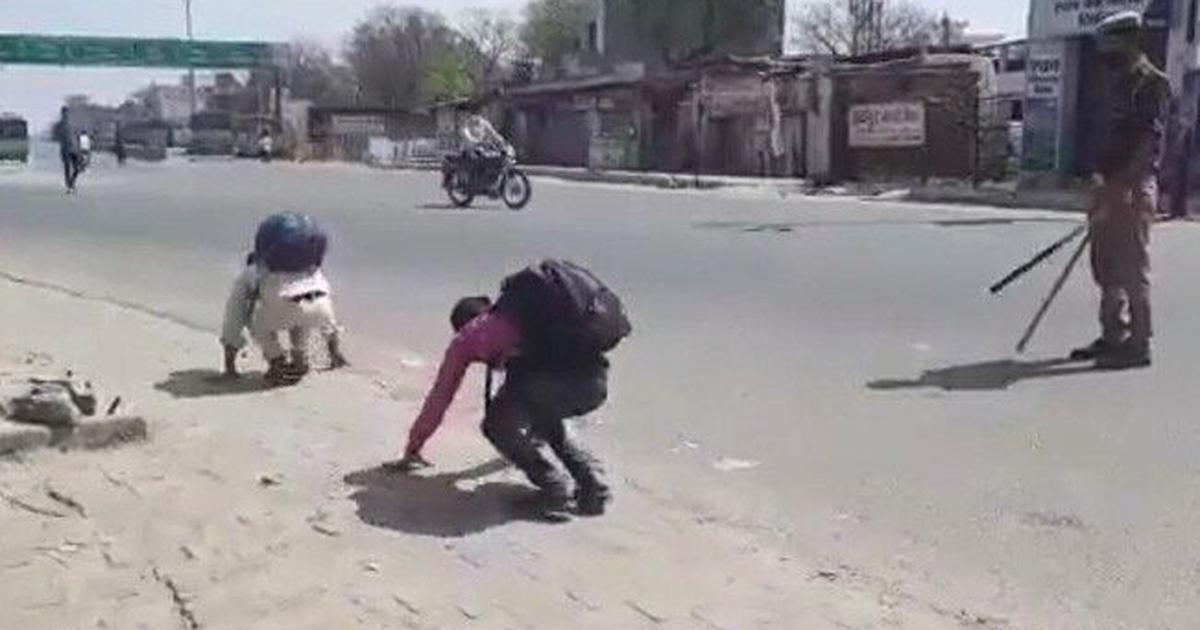 उत्तर प्रदेश : बदायूं में घर लौटते मजदूरों को सजा देने का वीडियो वायरल, जांच के आदेश