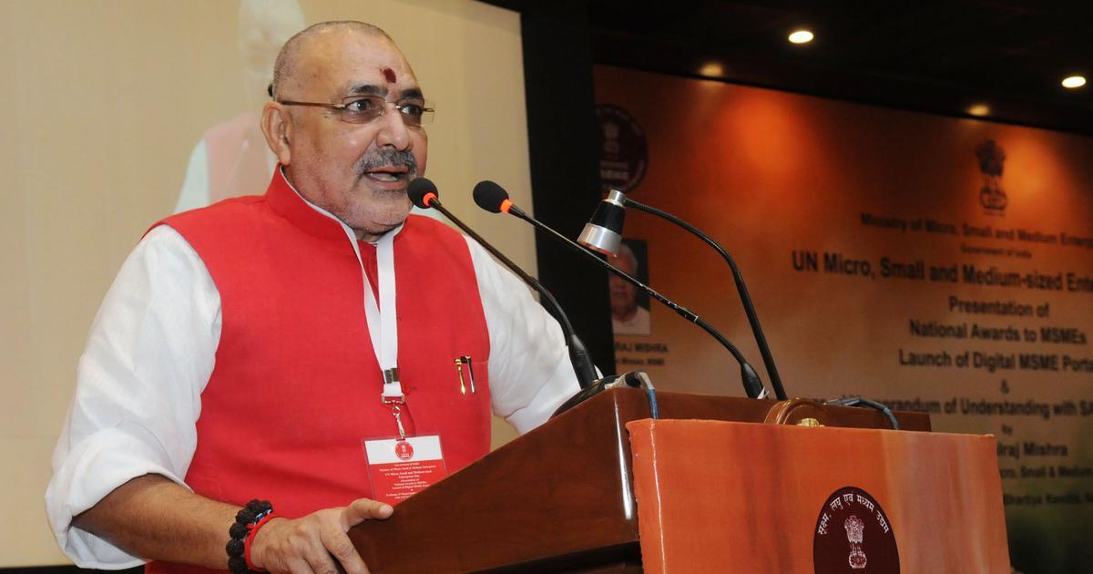 Lok Sabha elections: BJP minister Giriraj Singh booked for remark against Muslims in Begusarai
