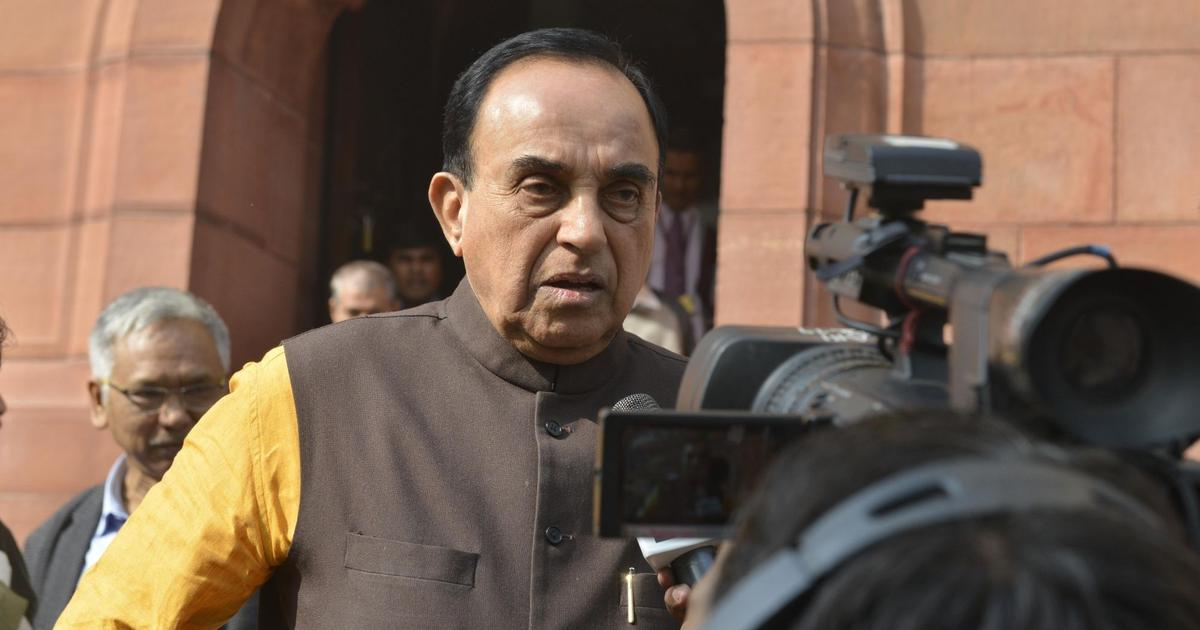 'I cannot be a chowkidar because I am a Brahmin,' says BJP MP Subramanian Swamy