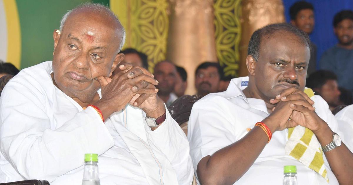 कर्नाटक : एचडी देवगौड़ा ने कुमारस्वामी को मुख्यमंत्री पद छोड़ने की सलाह दी