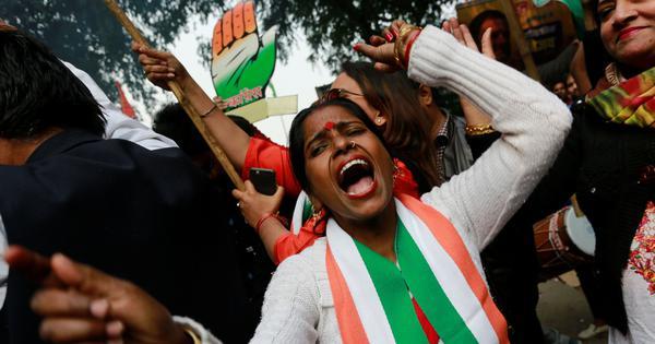 विधानसभा चुनाव परिणाम : मध्य प्रदेश में कांग्रेस फिर भाजपा से आगे निकली