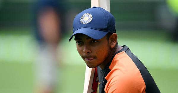 Suspended Prithvi Shaw included in Mumbai's squad for Syed Mushtaq Ali T20