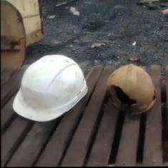 मेघालय : खदान में फंसे लोगों को बचाने का काम जारी, अभियान के दौरान तीन हेलमेट मिले