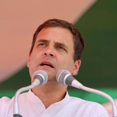 'When the youth ask for jobs, Modi government tells them to watch the moon,' says Rahul Gandhi