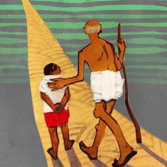 150 साल के महात्मा गांधी से 15 साल के युवा के कुछ सवाल-जवाब
