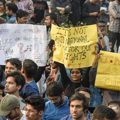 JNU protest: Students allegedly stopped from protesting outside police headquarters