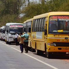 उत्तर प्रदेश सरकार की इजाजत न मिलने पर कांग्रेस द्वारा लायी गई बसें बैरंग लौटीं
