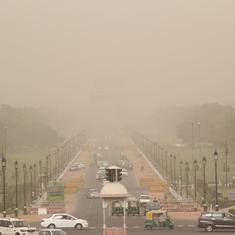दिल्ली में हवा की गुणवत्ता 'बहुत खराब' स्तर पर पहुंची
